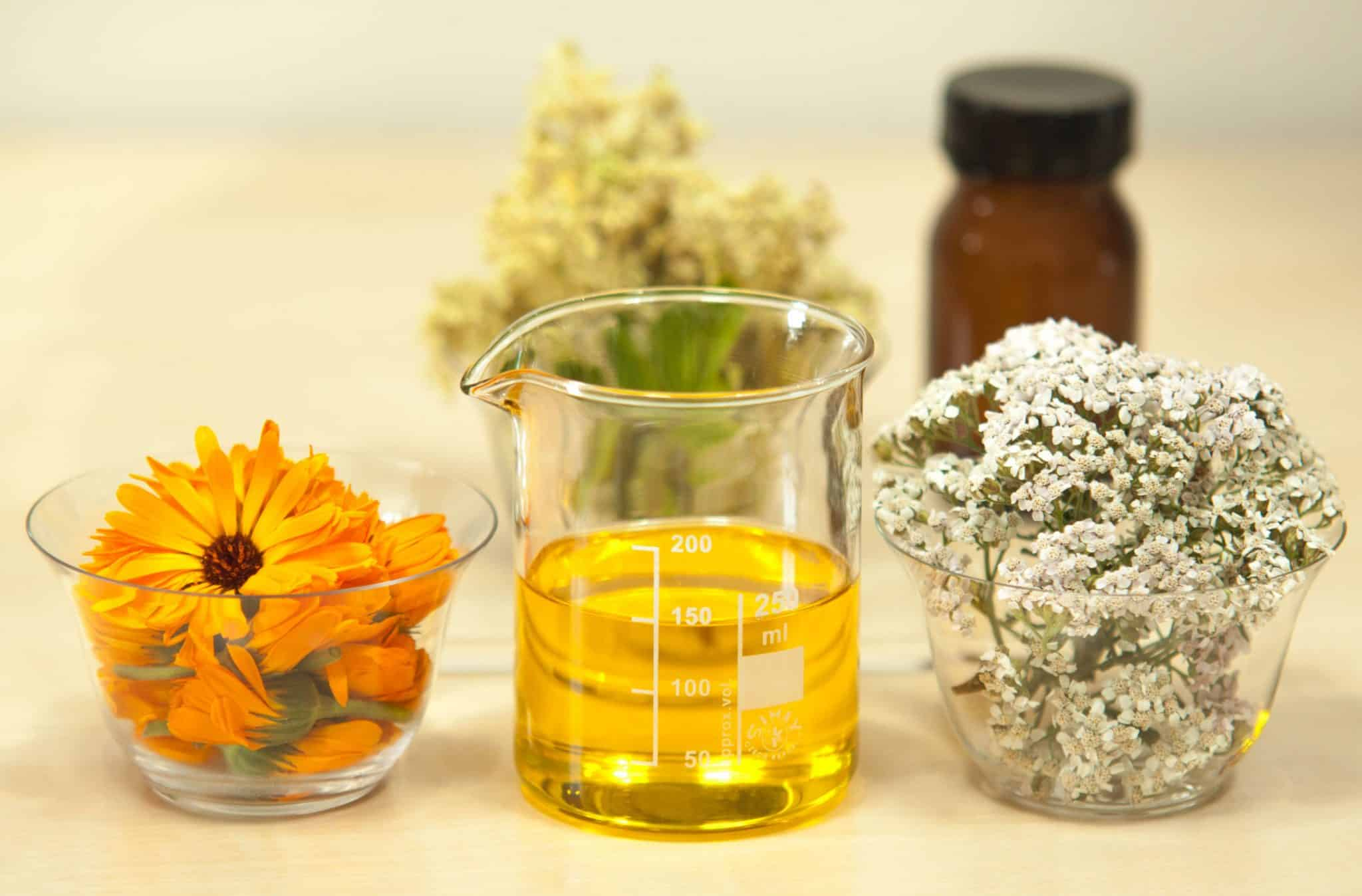 huiles essentielles, fleurs