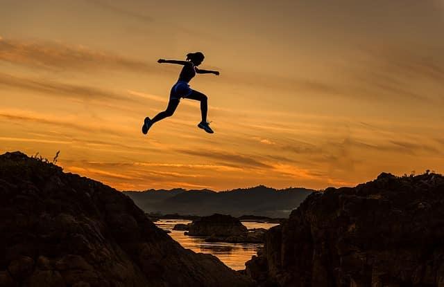 Objectif, saut, défi